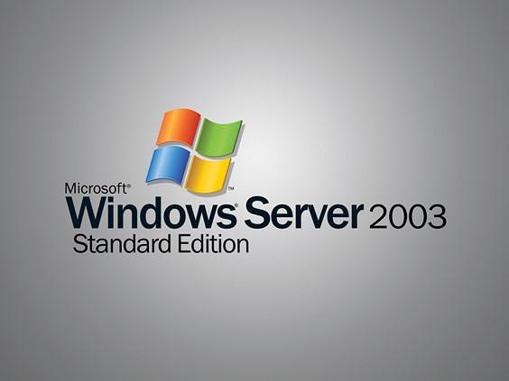 Image of Windows Server 2003 logo.